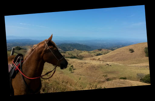 horseback in the mountains of Costa Rica