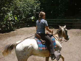 horseback riding lesson for children