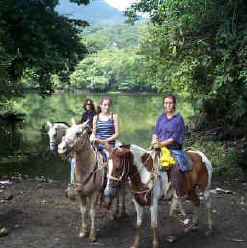 horseback riding group at Arenal Volcano