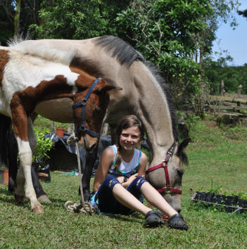 Aragon&Pitufa in good hands at Smiling Horses Monteverde