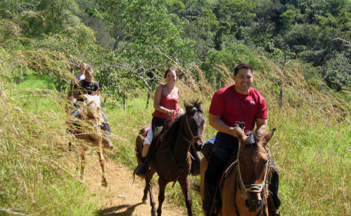 horseback riding fun at Smiling Horses Monteverde