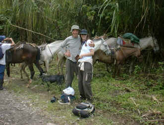 happy after horseback to arenal volcano