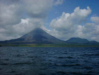 arenal volcano from the lake