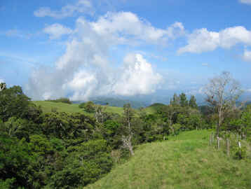 View from Monteverde to Guanacaste